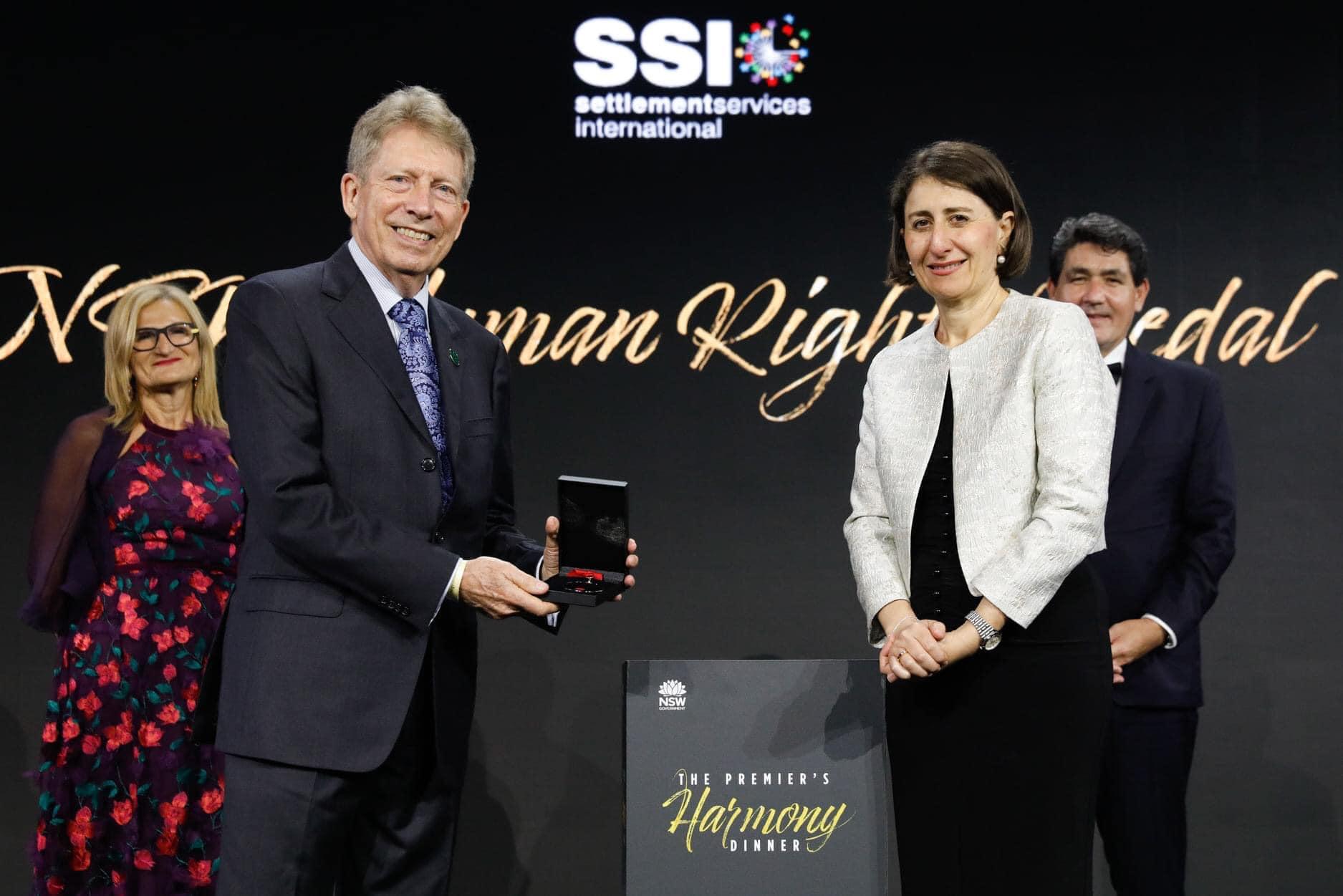 STARTTS Chair Dr. Roger Gurr – Awarded 2021 Premier's Human Rights Medal