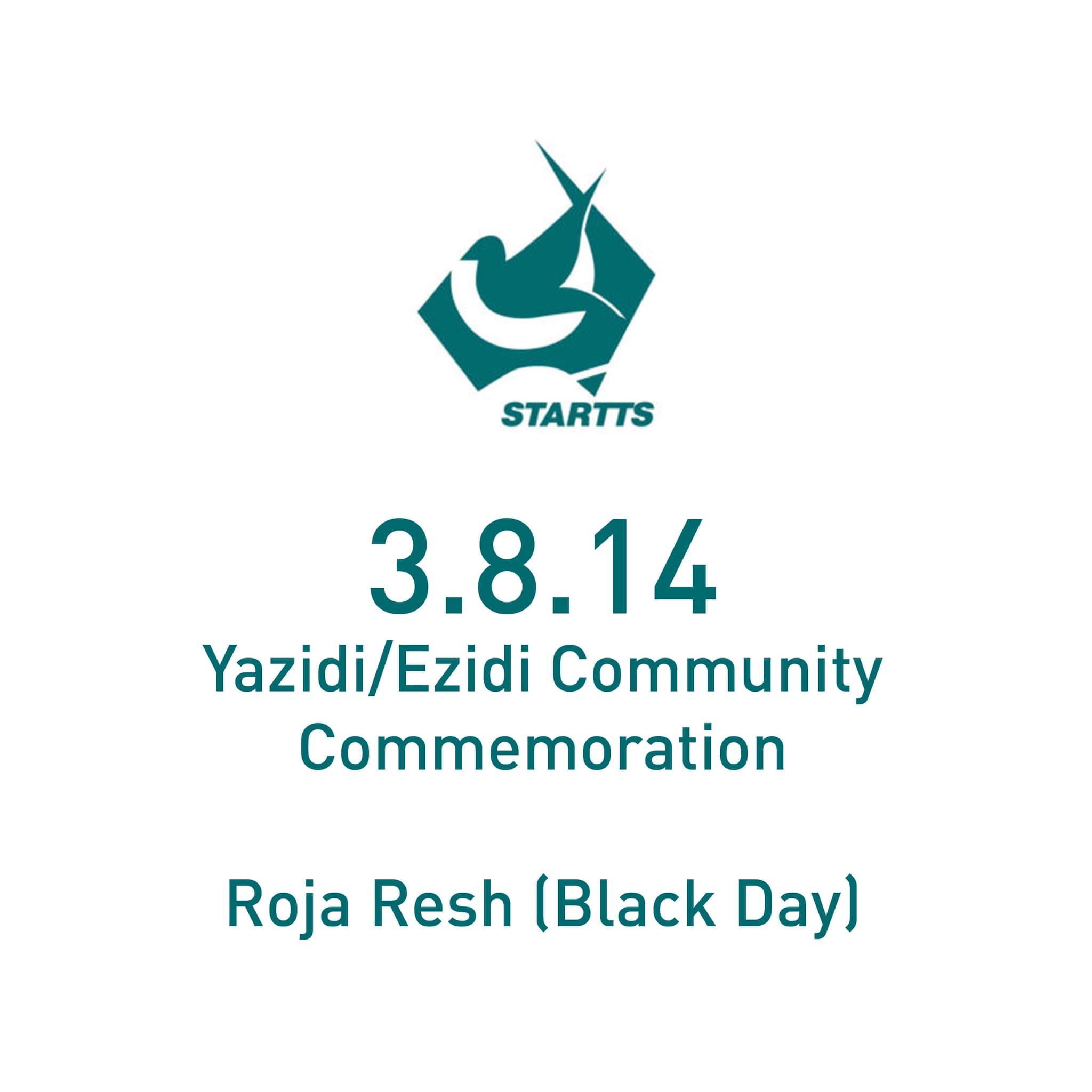 Yazidi/Ezidi Community Commemoration – Roja Resh (Black Day) – 3 August 2021
