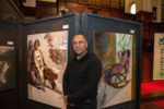 Artist Hedar Abadi With His Work