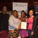 Michelle Kotevski And Members Of The Baulkham Hills African Ladies Troupe