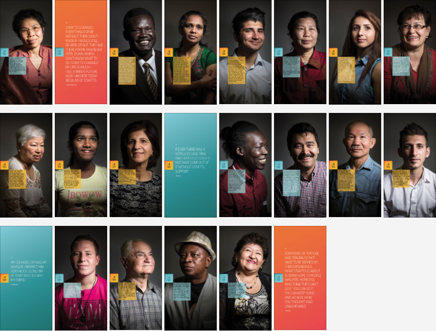Click on portraits to view larger version and read their story. Photos: David Maurice Smith