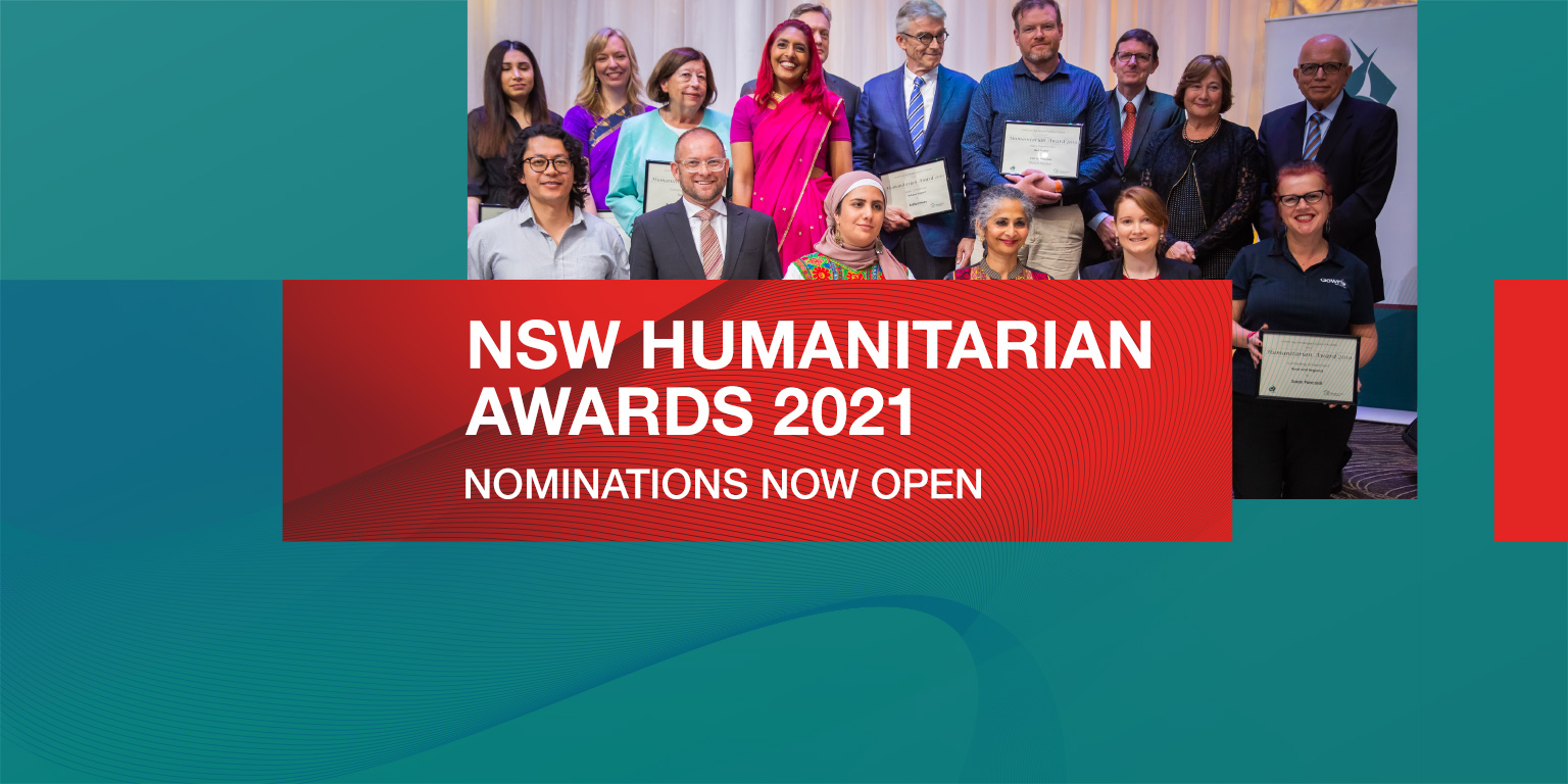 2021 NSW Humanitarian Awards – Nominations Now Open!
